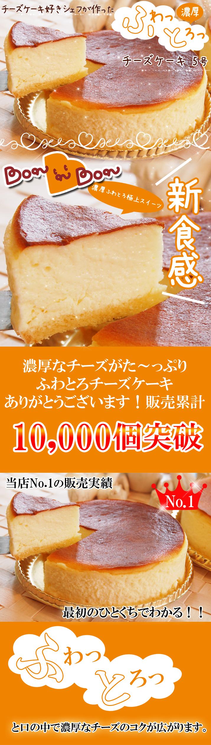 ふわっとろっ濃厚チーズケーキ5号