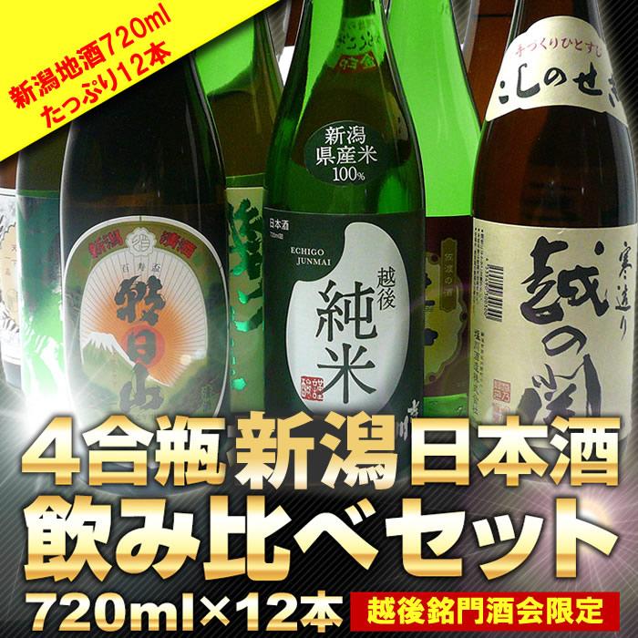 新潟 日本酒720ml×12本セット