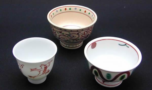 龍豊窯 盃3種