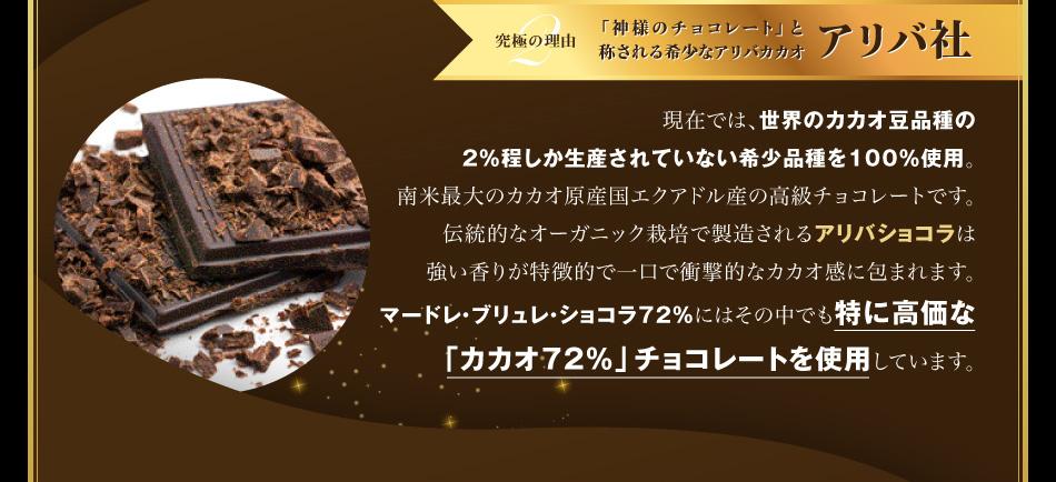究極の理由2.「神様のチョコレート」と称される希少なアリバカカオ アリバ社