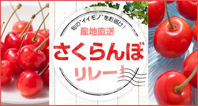 """旬の""""イイモノ""""をお届け! 産地直送「さくらんぼ」リレー!"""