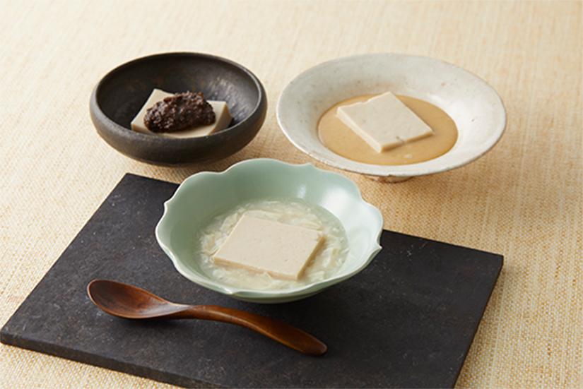 三種たれのごま豆腐