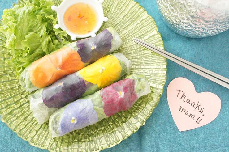 母の日にお花をあげたあとは食べちゃいましょう!食べられるお花エディブルフラワーを使ったレシピをご紹介!
