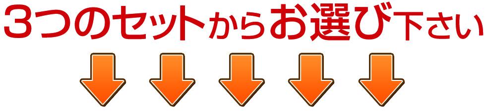 3つのセットからお選びください