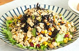 今流行りのジャーサラダを和の食材で作ってみた