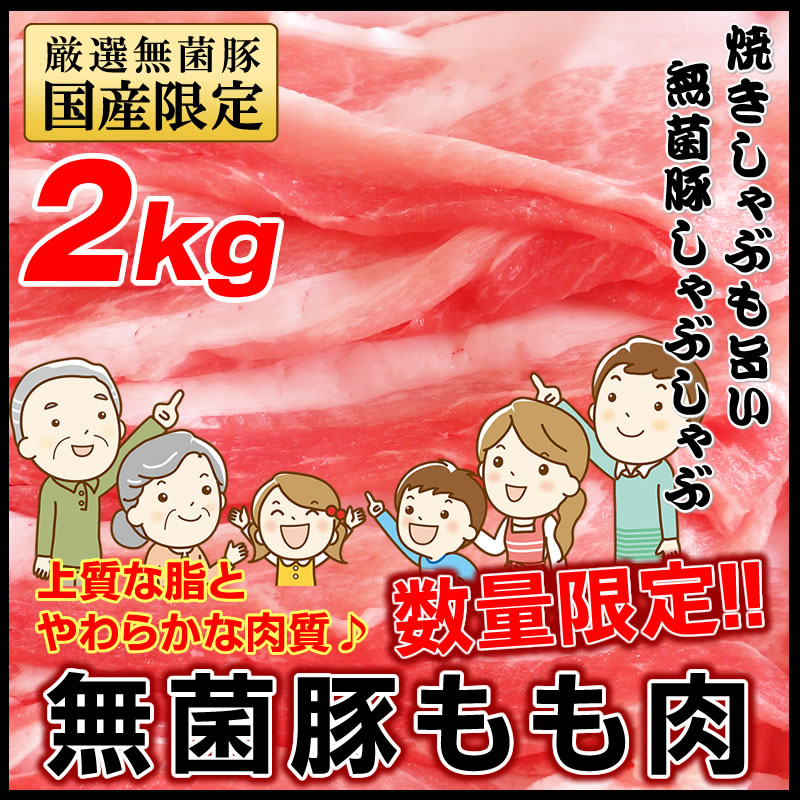 豚肉 無菌豚 国産 焼肉 しゃぶしゃぶ もも肉 鍋