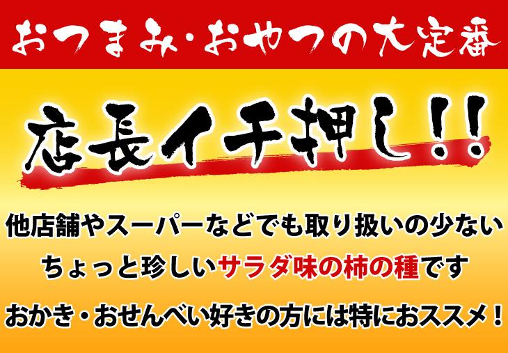 柿の種 サラダ味 国産 おつまみ メール便
