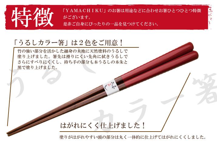 うるしカラー箸特徴