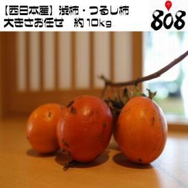 送料無料】【西日本産】渋柿・吊るし柿 約10kg(北海道沖縄別途送料加算)