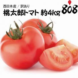 【送料無料】【西日本産】訳あり 桃太郎トマト 大きさおまかせ 約4kg(北海道沖縄別途送料加算)