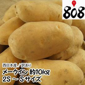 【送料無料】【西日本産】メークイン 2S~Sサイズ 1箱 約10kg(北海道沖縄別途送料加算)