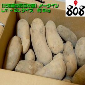 【送料無料】【翌日お届け】【北海道他西日本産】メークイン LM~2Lサイズ 1箱 約5kg(北海道沖縄別途送料加算)