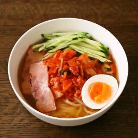 【ハチイチホルモン一番人気!】自家製ラー油を使用した特製冷麺+カクテキ付!(4食入)