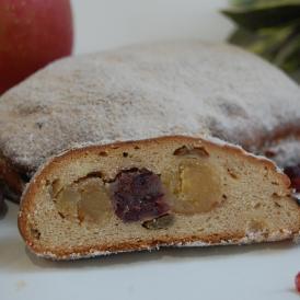 栗とリンゴとクランベリー入り「恋する大人の秋色シュトーレン」  【世田谷パン祭りのコンテストで入賞】