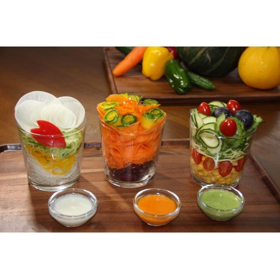 回転式野菜調理器 Clulu 【オレンジ色】03