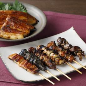 国産うなぎの蒲焼きと、全国でも珍しいうなぎ串焼き6種をセットにしました。