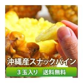 【沖縄県産】 スナックパイン 3玉入り 【送料無料】