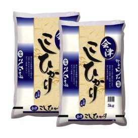 会津こしひかり 精米 5kg×2袋セット(合計10kg) 平成28年度 福島県会津産