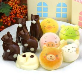 お絵かきマカロン動物っこ & ねこチョコレート 合計10個セット お家のギフト箱入り