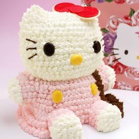 ハローキティ 立体ケーキ 約8~10人分 3Dデコレーション Hello Kittyのキャラクターケーキ