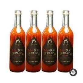 果汁100% トマトジュース あかい実りの贅沢しぼり 4本セット(720ml×4本) 宮城県産 無添加 送料無料