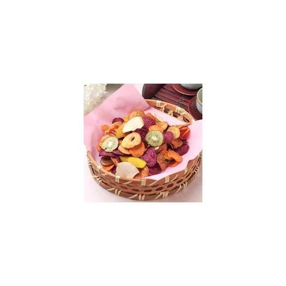 豆徳 7品目の国産野菜果物チップス 510g(170g×3袋入) 送料無料02
