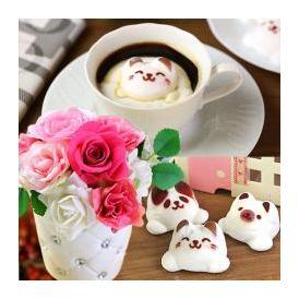Latte ラテ マシュマロ ラテマル 3個 プリザーブドフラワー ピンク お家のギフト箱 手さげ袋 送料無料