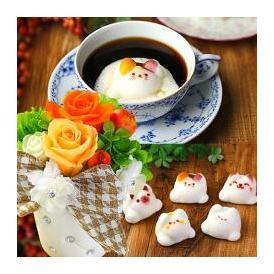 Latte ラテ マシュマロ ラテマル 5個 プリザーブドフラワー オレンジ お家のギフト箱 手さげ袋 送料無料