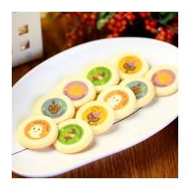 ハロウィン クッキー 10枚入り 個包装 お菓子 お家のギフト箱入り (おばけ、かぼちゃ、魔女、お城、黒猫…各2枚ずつ) 配る