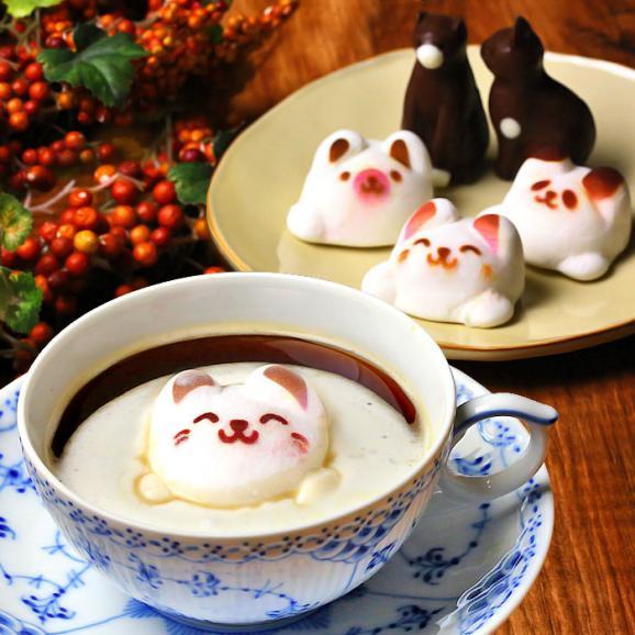 Latteマシュマロ ラテマル 3個 ねこチョコ 2個 動物さんスイーツセット お家の箱入り01