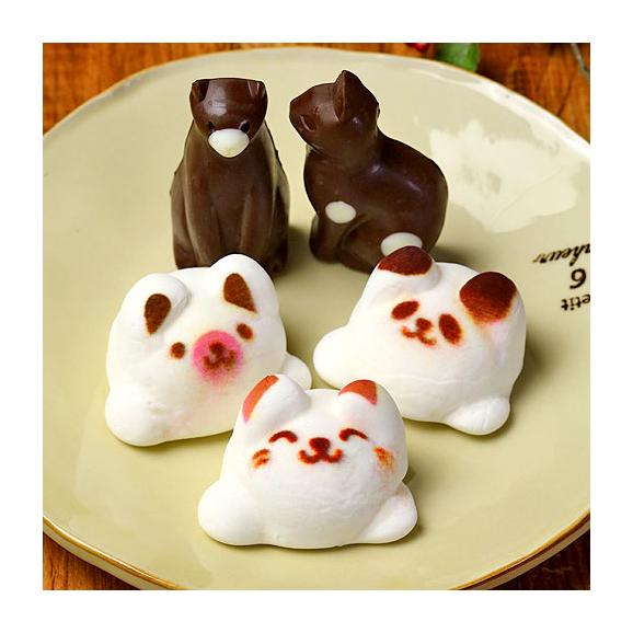 Latteマシュマロ ラテマル 3個 ねこチョコ 2個 動物さんスイーツセット お家の箱入り02