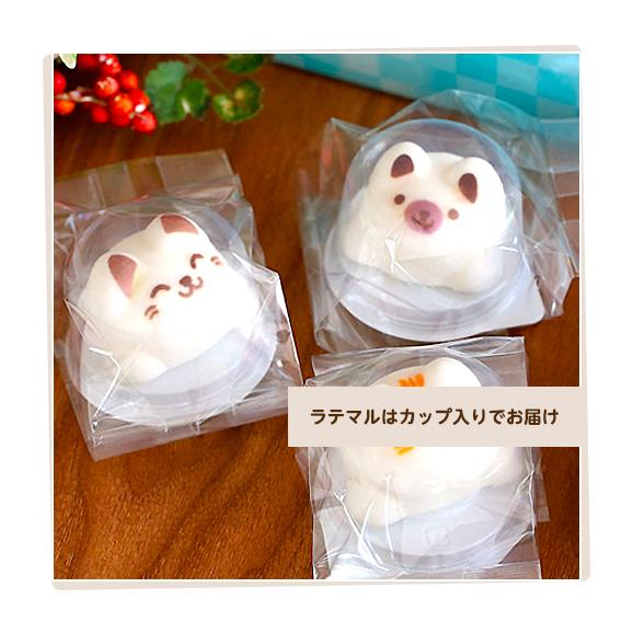 Latteマシュマロ ラテマル 3個 ねこチョコ 2個 動物さんスイーツセット お家の箱入り03