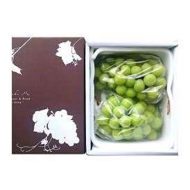 シャインマスカット ぶどう(葡萄) 大粒 約500g以上 2房 秀・優品 ハウス栽培 山梨県産 化粧箱入り 送料無料