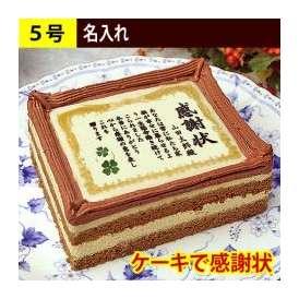 ケーキで感謝状 名入れ 5号サイズ
