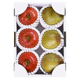りんご(林檎)・洋なし(ラ・フランス) 詰合せ 約2kg 山形県産 フルーツセット 化粧箱入り 送料無料