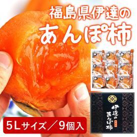 伊達のあんぽ柿 福島県産 5Lサイズ 9個 化粧箱入り カキ フルーツ