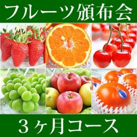 3ヵ月コース フルーツ頒布会 (果物はんぷかい) | 毎月旬の果物をお届けの通販なら日本ロイヤルガストロ倶楽部