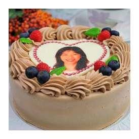 プリントデコレーションケーキ チョコクリーム 5号サイズ 写真ケーキ お菓子