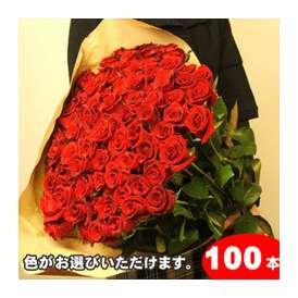 【生産者直送】だから花持ちが違う!【送料無料】バラの花束ギフト100本