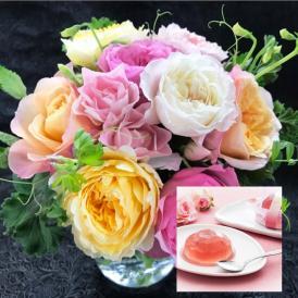 【母の日限定】ENGLISH・ROSEと薔薇入りゼリーのセット【送料無料】