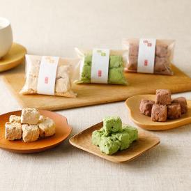 大阪の伝統菓子「粟おこし」の技術を使って作り上げた、新しいお菓子。木箱入りで高級感も◎