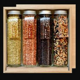 十八穀米・発芽焼玄米・乾燥早炊小豆・乾燥早炊大豆 4本セット