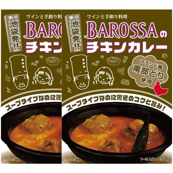 【ネコポス発送】東京・池袋のレストラン『バロッサ』のレトルトカレー2個パック(スープタイプのカレー)現金代引不可 01