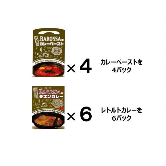 【送料無料!】東京・池袋のレストラン『バロッサ』の2種セット(ペースト4&レトルト6)01
