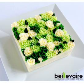 美食の都パリの5つ星ホテルやミシュランスターシェフたちからも人気が高くフランスを代表する食のプロ御用達フロマジュリー ベイユヴェール(beillevaire)ガトー・オ・ブーケ 『ローズ ヴェルトゥ』