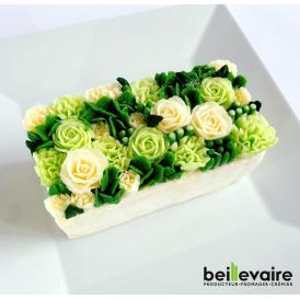美食の都パリの5つ星ホテルやミシュランスターシェフたちからも人気が高くフランスを代表する食のプロ御用達フロマジュリーガトー・オ・ブーケ 『ローズ ヴェルトゥ ハーフ』