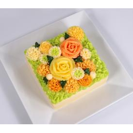 バタークリーム フラワーケーキ 花ケーキ お誕生日ケーキ クリスマス 冷凍 高級 美味しい