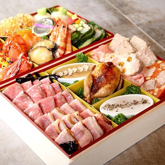 釜津田(KAMATSUDA)特製フレンチおせち二段重箱入01