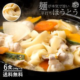 讃岐うどん 麺が本気で旨い 平打ちの生麺 ほうとう ご当地 お試し 6人前
