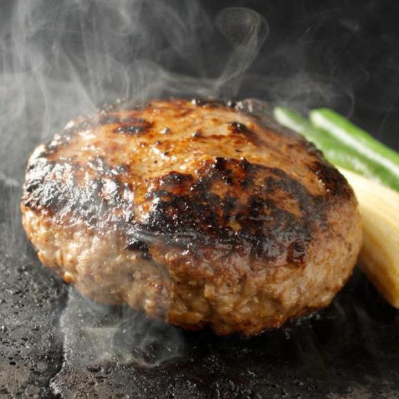 【送料無料】究極のひき肉で作る 濃厚 牛100% ハンバーグステーキ 200g×4個入り (プレーン200g)02